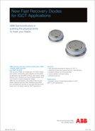 ABB New fast recovery diodes for IGBT product brief