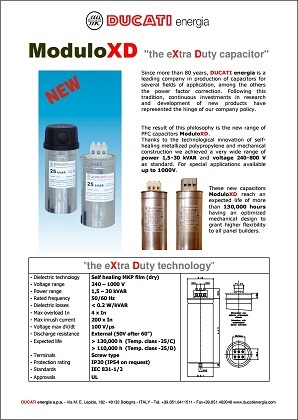 Ducati XD series capacitors product brief