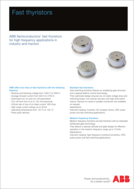 ABB fast thyristors product brief