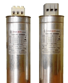 Low voltage power factor correction capacitors