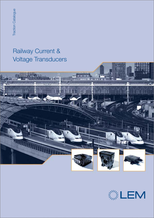 LEM railway current & voltage transducer catalogue