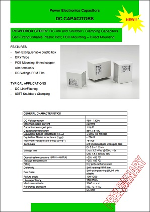 Ducati power box dc capacitor product brief